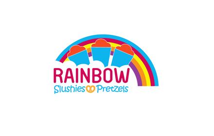 Best logo design in las pinas city rainbow slushies and pretzels logo design las pinas stopboris Images