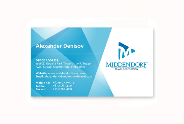 Business card design sonnydesign business card middendorf cubao reheart Gallery