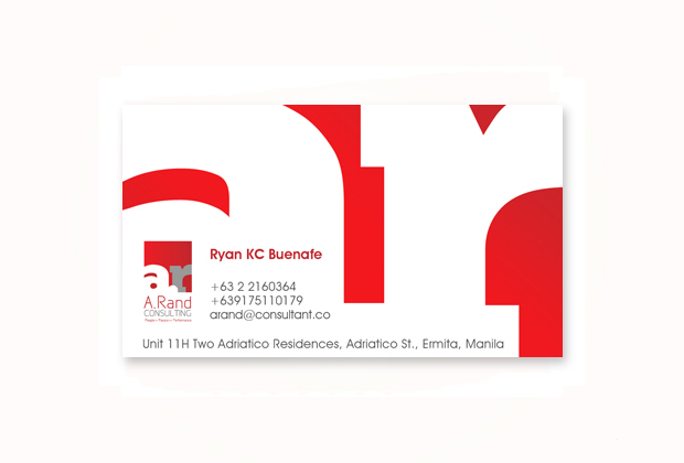 Business card design sonnydesign calling card a rand consulting pasig reheart Choice Image