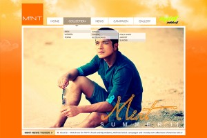 Mint Clothing Web Design San Juan Manila